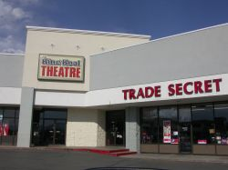 The entrance of the theater is in a corner of the strip mall. - , Utah