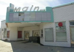 The front of the Main Theatre and the right side of the marquee.  - , Utah