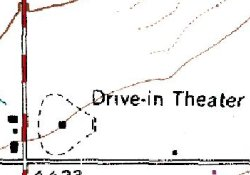 The Motor-Vu Drive-In on a 1969 geological survey map. - , Utah