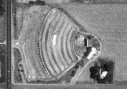An aerial view of the Motor-Vu Drive-In in Erda in 1997. - , Utah