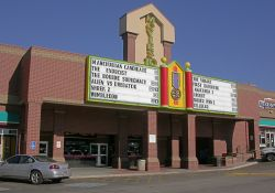 The front facade of the Cinemark Movies 10 dollar theater during the day. - , Utah