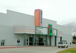 The front of the Movies 10 during the day. - , Utah