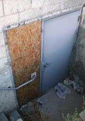 The north auditorium exit door of the Murray Theatre. - , Utah