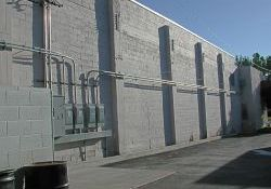 Another view of the north exterior wall of the Murray Theatre. - , Utah
