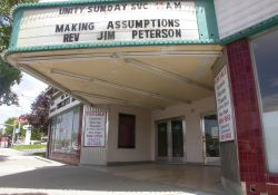 The underside of the Murray Theatre marquee. - , Utah