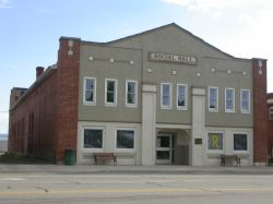 A view of the Panguitch Social Hall from across the street. - , Utah