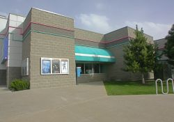 An exterior view of the lobby of the Point Theatre. - , Utah