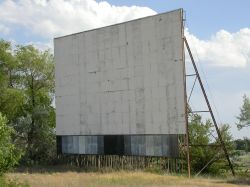 The screen tower of the drive-in. - , Utah