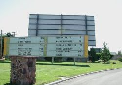 The attraction board of the Redwood Drive-In. - , Utah