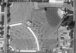 An aerial photo of the Redwood Rive-In in 1997. - , Utah