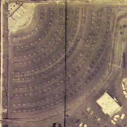 An aerial view of the Theater 1 at the Redwood Drive-In. - , Utah