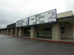 The 5 Star Cinemas has two attraction boards above the theater entrance. - , Utah