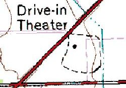 The Sunset Drive-In on a geological survey map. - , Utah