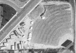 An aerial view of the Sunset Drive-In in Vernal, Utah. - , Utah