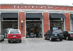 The main entrance of the Trolley Theatres was on the north side of this trolley barn.  In 2002, the space was occupied by the Pottery Barn store. - , Utah