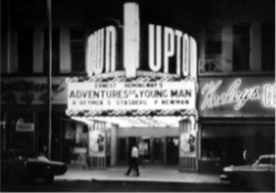 'Adventures of a Young Man' on the marquee of the Uptown Theatre. - , Utah
