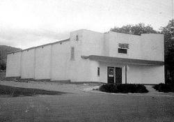 In 1979 the Wayne Theatre had two front doors and the shape of the roof over the entrance was different. - , Utah