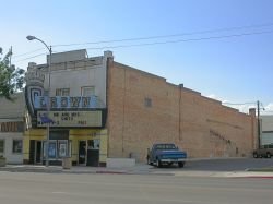 The front and side of the theater. - , Utah