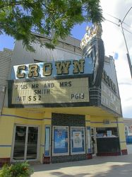Marquee and entrance of the theater. - , Utah